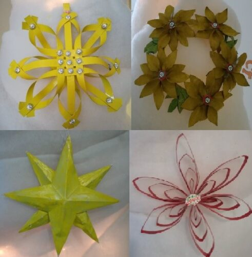 Conjunto de estrelas de cor amarela representativas do eco ponto amarelo, onde as embalagens Tetra Pak devem ser colocadas depois de utilizadas.