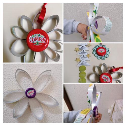 Pinheiros, flores e bolas natalícias - 1º Ano