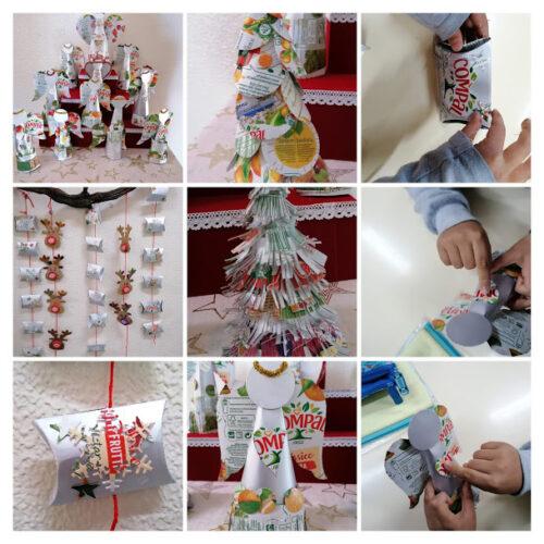 Anjos, pinheiros e caixas do advento - 3.º Ano