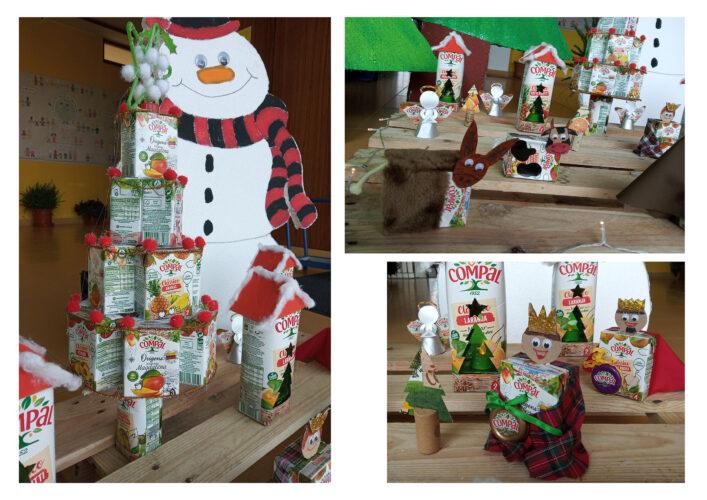 Árvore de Natal e outros elementos que compõem o presépio. (pré-escolar e 1º ciclo)