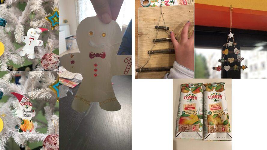 Boneco de Natal e Pinheiro Improvisado