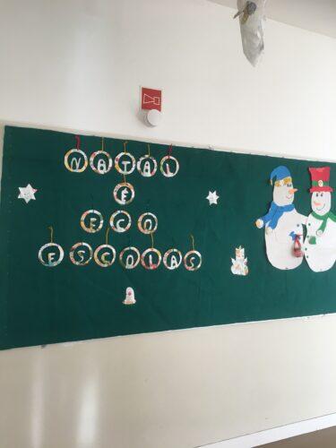 Painel final de Natal.
