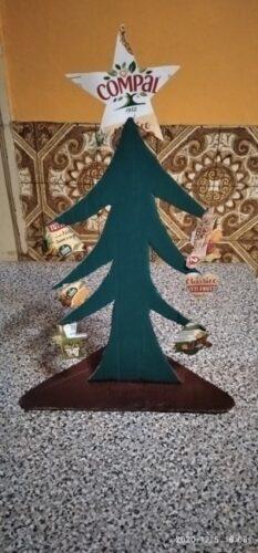 Árvore de Natal realizada pela família do Samuel A.