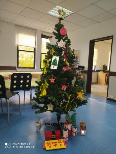 Enfeite de Natal em material Tetrapak