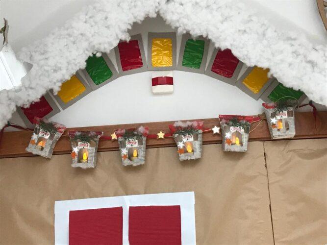 Casinhas lanternas de Natal