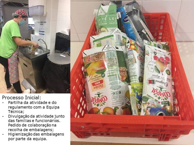 Recolha e higienização das embalagens