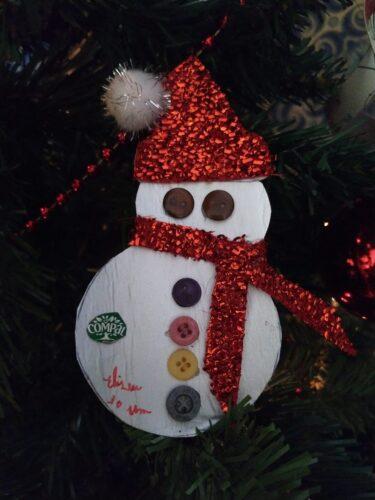 Boneco de Neve<br/>O boneco de neve símbolo do tempo frio característico da época de Natal