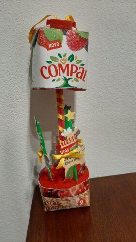 Carrossel natal<br/>O carrossel de natal numa embalagem de Compal, esta foi a inspiração para criar este trabalho fantástico.