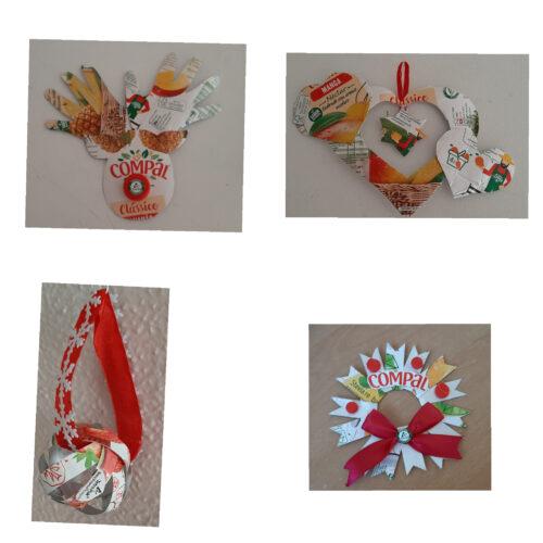 Pacotes reciclados!<br/>Ambiente preservado!<br/>Natal abençoado!