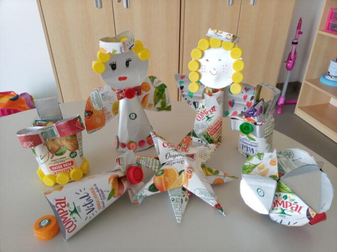 Enfeites de Natal - Exemplos dos enfeites realizados para colocar na árvore