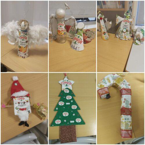 Anjos, Pai Natal, árvore, bengala