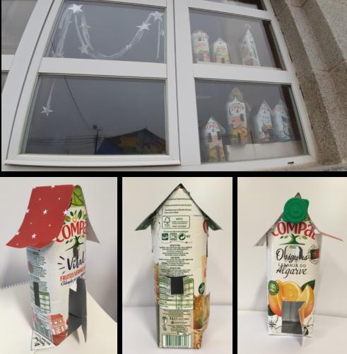 Decoração das janelas e pormenores das casinhas.