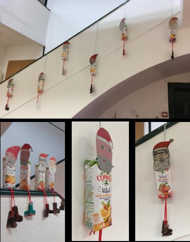 Decoração do hall e pormenores dos Pais Natais.