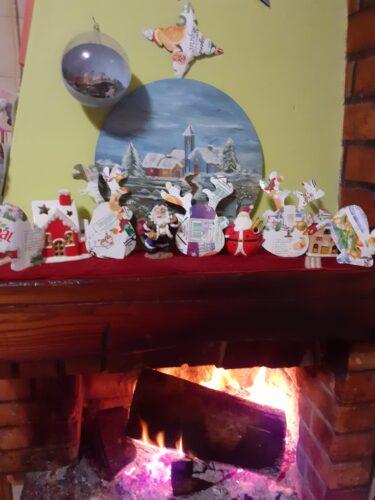 O calor da lareira convida para um serão sossegado e tranquilo à espera do Natal