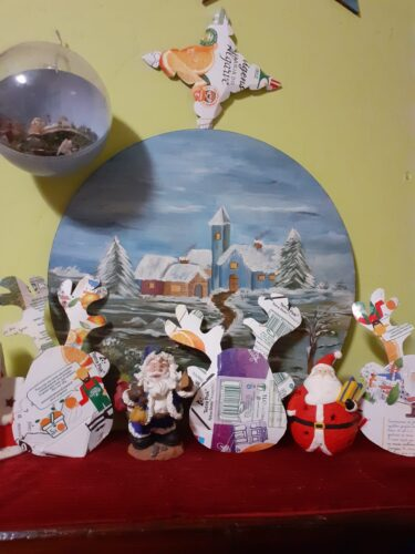 O Rudolfo convidou as suas amigas para o Natal.