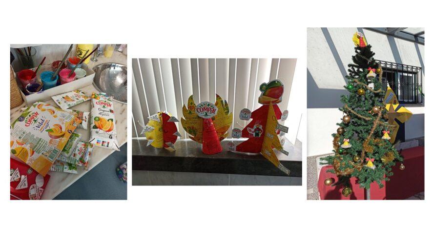 Trabalho 4.º ano. Bola de Natal, Anjo e Árvore de Natal