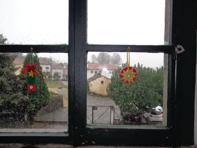 Também ficaram bem nas janelas.