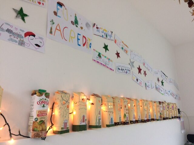 A cidade natal foi um projeto que partiu de um grupo de crianças e lançou o desafio a toda a instituição.