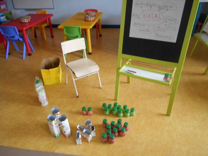 1-Lançamento do projeto, a partir da temática do natal. Seleção de materiais.
