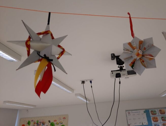 Estrela de Natal 2 em Origami, Estrela de natal 3 com dobragens e colagens