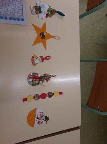 Vários elementos_ Árvore de Natal, estrela de Natal 1, Pai Natal 1, Boneco de Neve, Fitinha de círculos, bola de natal