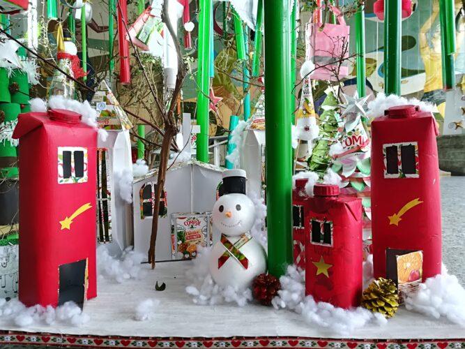 Cidade de Natal construída por um grupo de alunos toda ela recorrendo a embalagens Tetrapack